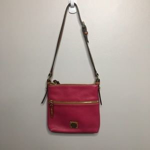 Dooney and Bourke Pink Pebble Leather Square Bag